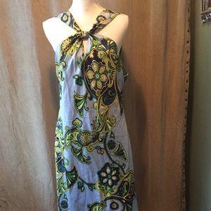 Banana Republic Silk Halter Dress Size 14